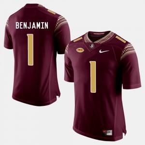 For Men's Seminole #1 BKelvin Benjamin Garnet College Football Jersey 374147-874