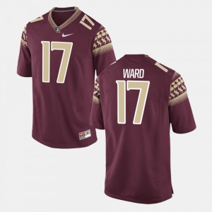 For Men's Florida State #17 Charlie Ward Garnet Alumni Football Game Jersey 285641-123