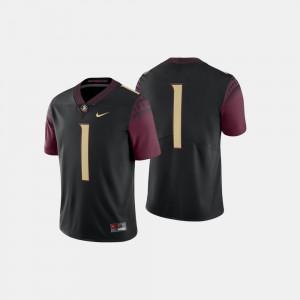 Men's FSU #1 Black College Football Jersey 543160-558