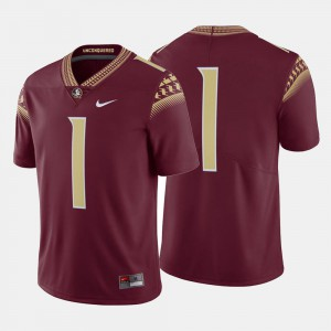 Men's Seminole #1 Garnet College Football Jersey 320912-419