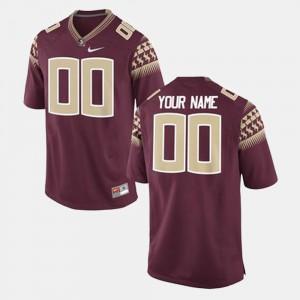 Mens Florida State #00 crimson College Football Customized Jersey 307523-278