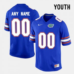 Youth FSU Seminoles #00 Blue College Limited Football Custom Jersey 915853-534