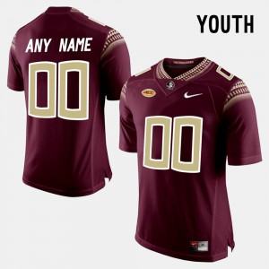 For Kids FSU Seminoles #00 Red College Limited Football Customized Jerseys 600262-945