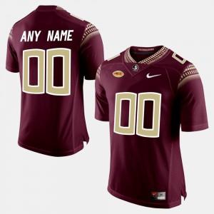 Men Seminoles #00 Red College Limited Football Custom Jerseys 643220-583