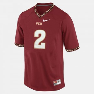 Men's Seminole #2 Deion Sanders Red College Football Jersey 718322-872