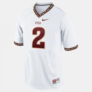 Men's Seminole #2 Deion Sanders White College Football Jersey 590056-768