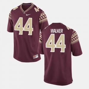 Mens Seminole #44 DeMarcus Walker Garnet Alumni Football Game Jersey 979362-314