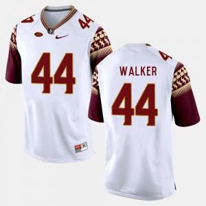 Men's Florida State #44 DeMarcus Walker White College Football Jersey 427139-783