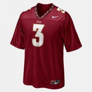 For Men's FSU Seminoles #3 E.J. Manuel Red College Football Jersey 130430-232