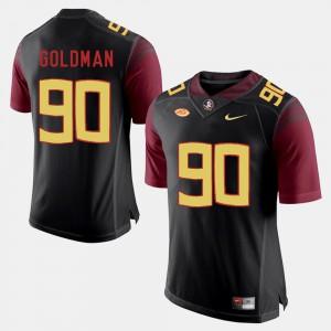 Men Florida State #90 Eddie Goldman Black College Football Jersey 154631-340