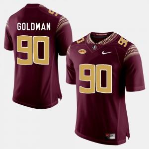 For Men's Florida ST #90 Eddie Goldman Garnet College Football Jersey 733067-263