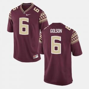 For Men Seminoles #6 Everett Golson Maroon College Football Jersey 358107-337