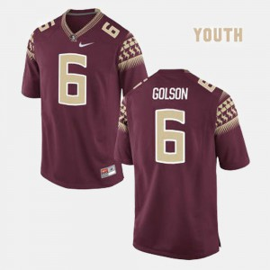For Kids Florida State Seminoles #6 Everett Golson Red College Football Jersey 735538-911