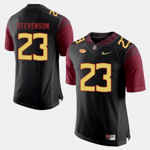 For Men Seminoles #23 Freddie Stevenson Black College Football Jersey 629701-640
