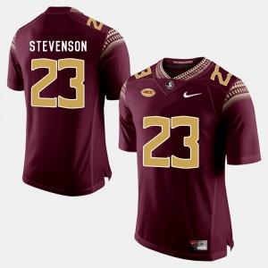 Men's FSU Seminoles #23 Freddie Stevenson Garnet College Football Jersey 373820-727