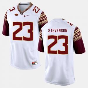 Men's Florida State Seminoles #23 Freddie Stevenson White College Football Jersey 217326-488