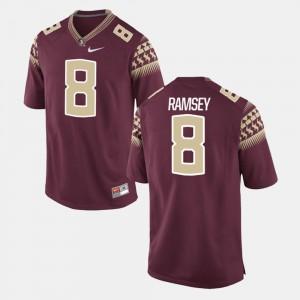 Mens FSU Seminoles #8 Jalen Ramsey Garnet Alumni Football Game Jersey 432017-741
