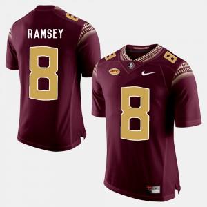 For Men Seminoles #8 Jalen Ramsey Garnet College Football Jersey 440740-460