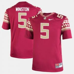 For Kids Seminoles #5 Jameis Winston Garnet Alumni Football Game Jersey 696142-582