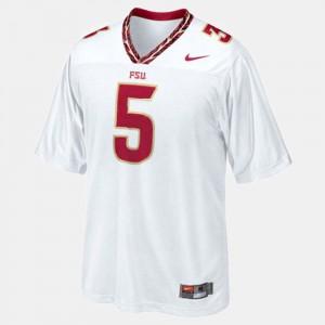 For Men Florida State Seminoles #5 Jameis Winston White College Football Jersey 989696-688