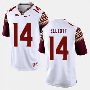 For Men's Florida ST #14 Javien Elliott White College Football Jersey 318337-610