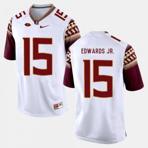 For Men Florida State #15 Mario Edwards Jr. White College Football Jersey 990848-475