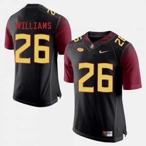 Men's FSU #26 P.J. Williams Black College Football Jersey 623226-147