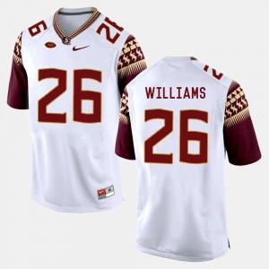 For Men FSU #26 P.J. Williams White College Football Jersey 280905-466