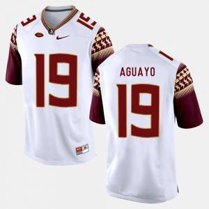 Men's Florida State Seminoles #19 Roberto Aguayo White College Football Jersey 349816-440