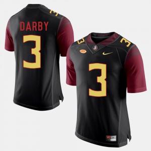 For Men's Seminole #3 Ronald Darby Black College Football Jersey 862500-461