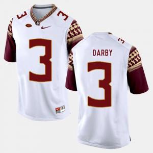 Mens FSU Seminoles #3 Ronald Darby White College Football Jersey 348428-235