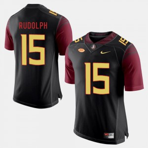 For Men Florida State #15 Travis Rudolph Black College Football Jersey 377112-699