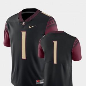 Men's Florida State #1 Black College Football 2018 Game Jersey 218159-552