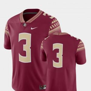 Mens FSU #3 Garnet College Football 2018 Game Jersey 845638-531