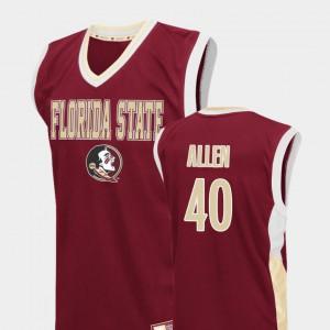 For Men Seminole #40 Brandon Allen Red Fadeaway College Basketball Jersey 850423-546