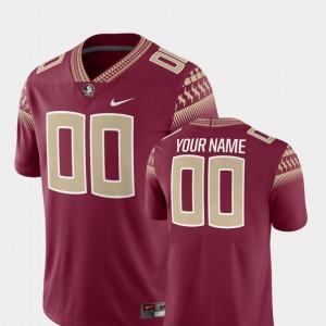 Mens Florida ST #00 Garnet College Football 2018 Game Customized Jerseys 990531-324