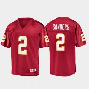 Men Florida ST #2 Deion Sanders Garnet Champions Collection Jersey 144969-979