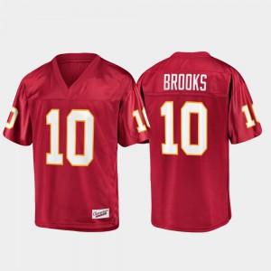 For Men Seminole #10 Derrick Brooks Garnet Champions Collection Jersey 363027-933