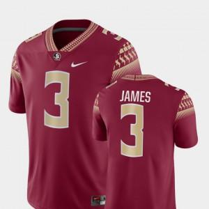 Mens FSU #3 Derwin James Garnet Game College Football Jersey 836632-959