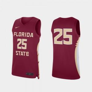 For Men FSU #25 Garnet Replica College Basketball Jersey 869493-301