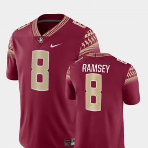 For Men's Florida ST #8 Jalen Ramsey Garnet Game College Football Jersey 942767-396