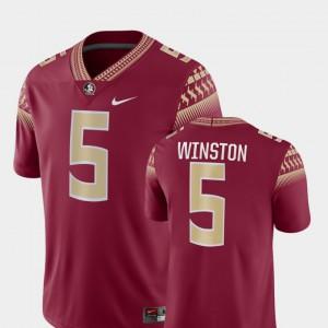 Mens FSU Seminoles #5 Jameis Winston Garnet Game College Football Jersey 468017-505