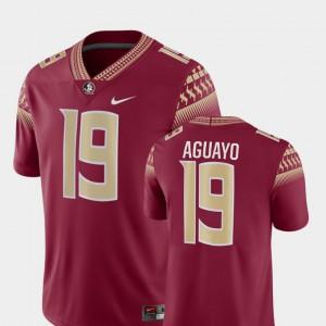 Men Florida State Seminoles #19 Roberto Aguayo Garnet Game College Football Jersey 380381-393