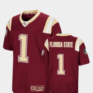 Youth(Kids) FSU Seminoles #1 Garnet Foos-Ball Football Colosseum Jersey 562810-986