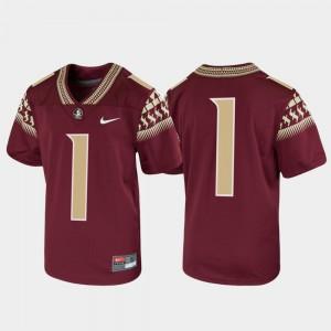 Youth(Kids) Florida State #1 Garnet Untouchable Football Jersey 209966-923
